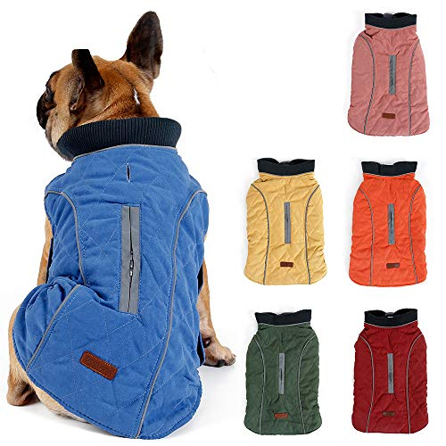 Hundemantel Winter Warme Jacke Weste, 7 Größen für Kleine Mittlere Große und Riesige Hunde, Winddicht Schneeanzug Hundekleidung Outfit Weste Haustiere Bekleidung (L, ROT)