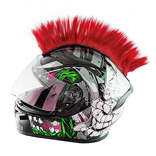 Wamsatto Punk Helm Irokese für den Skihelm, Motorradhelm, Fahrradhelm | AuffälligeR Aufkleber | Mohawk Frisur Helmdeko für Erwachsene | Motorrad Helmzubehör, Riesige Farbauswahl OHNE Helm