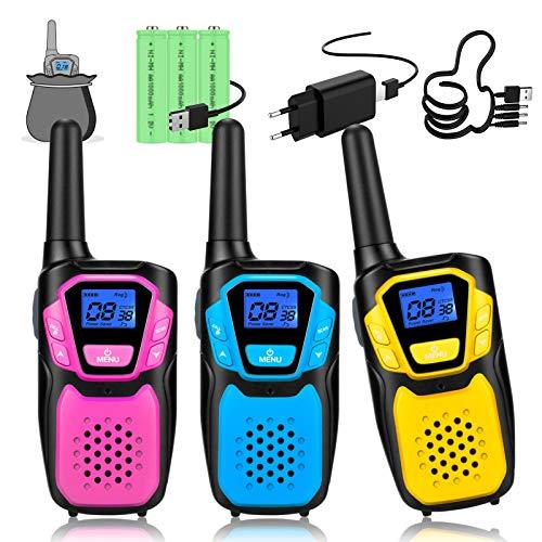 Topsung walkie Talkie Kinder, Einfache Bedienung Spielzeug walki talki mit Aufbewahrungstasche ab 3 5 8 Jahre mädchen Junge, Geschenk Geburtstagsgeschenk