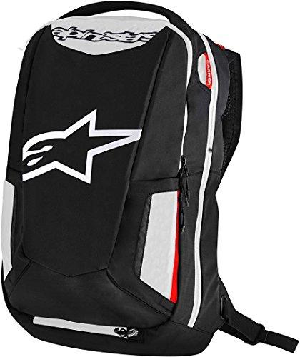 Alpinestars item_name Motorrad-Rucksack City Hunter Backpack, BLACK WHITE RED