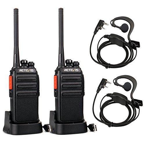 Retevis RT24 Plus Funkgerät Lizenzfrei 16 Kanäle PMR Walkie Talkie Rauschsperre VOX USB Ladeschale Wiederaufladbar Funkgeräte mit Headset IPx4 Wetterschutz (2 Stück, Schwarz)