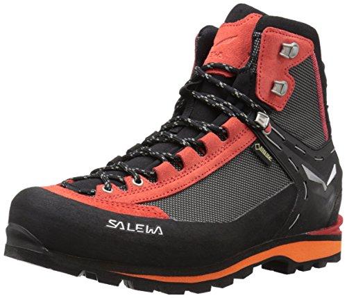 Salewa Herren MS Crow Gore-TEX Trekking- & Wanderstiefel, Black/Papavero, 44 EU