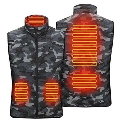 N/Q Intelligente Heizweste, Herren-beheizte Weste Leichte elektrische Gilet-Jacke, Angebot Geschenk für Schneemobile, Motorräder, Bergsteigen, Camping, Wandern.