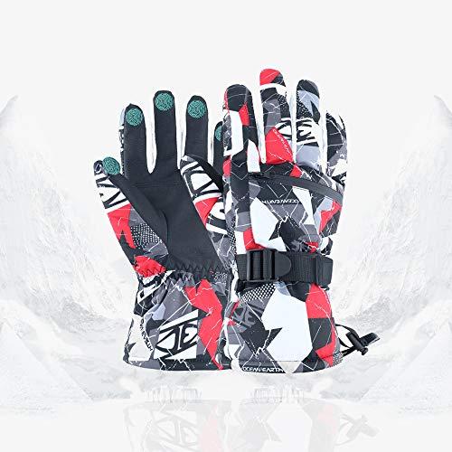 HITNEXT Snowboard-/Ski-Handschuhe, wasserdicht, für den Winter, Touchscreen, Schneemobil, Sport, Thermo-Handschuhe, Radfahren, Klettern, Schnee-Handschuhe für Herren und Damen