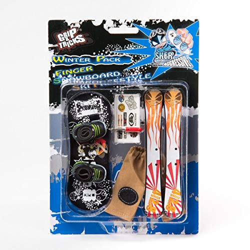 Grip & Tricks - Finger Snowboard Ski Freestyle - Pack1 Winter - Model 4