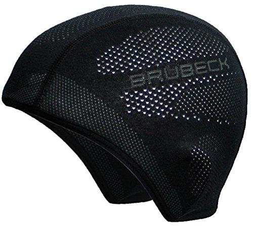 BRUBECK Funktionsmütze Herren   Fahrradmütze schwarz   Radmütze   atmungsaktive Mütze Fahrrad   Ski Unterziehmütze   Winter   Sportmütze   Skull Hat Helmet   Gr. L - XL   Black   HM10020A
