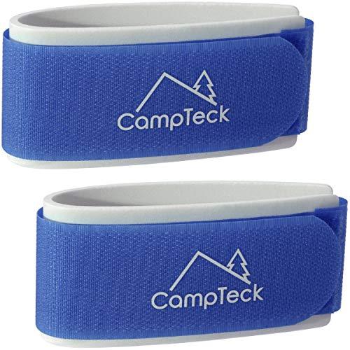 CampTeck U6891 - Ski Band, Skiclip - 1 Paar (2 Riemen) - Tragegurte für den leichten Transport, Reise und Aufbewahrung von Skiern - Blau