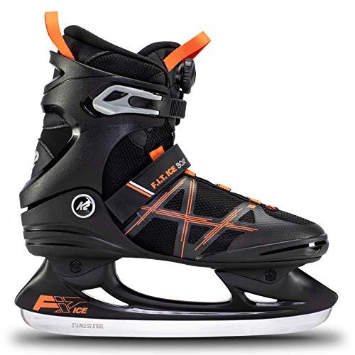 K2 Skates Herren Schlittschuhe FIT Ice Boa, Black/Orange, UK: 4
