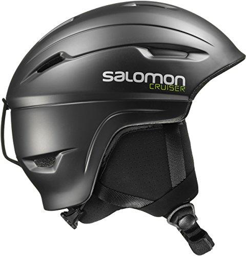 Salomon Damen/Herren Cruiser 4D Ski- und Snowboardhelm, In-Mold-Schale, EPS 4D-Innenschaum, Kopfumfang 53-56 cm, schwarz, Größe S, L39035100