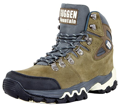 GUGGEN Mountain M008v2 Herren Bergschuhe Wanderschuhe Wanderstiefel Outdoor Schuhe Trekkingschuhe, Braun, EU 41