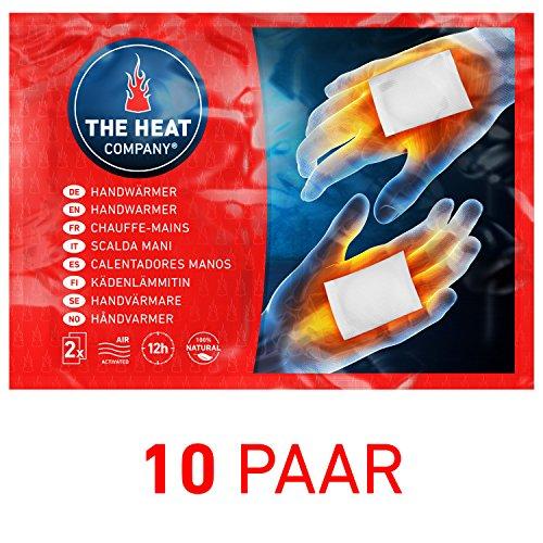 THE HEAT COMPANY Handwärmer - EXTRA WARM - Taschenwärmer - 12 Stunden warme Hände - sofort einsatzbereit - luftaktiviert - rein natürlich - 10 Paar